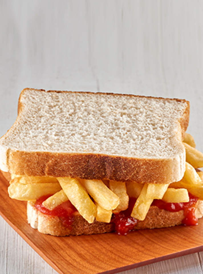 Chip and Tomato Sauce Sandwich