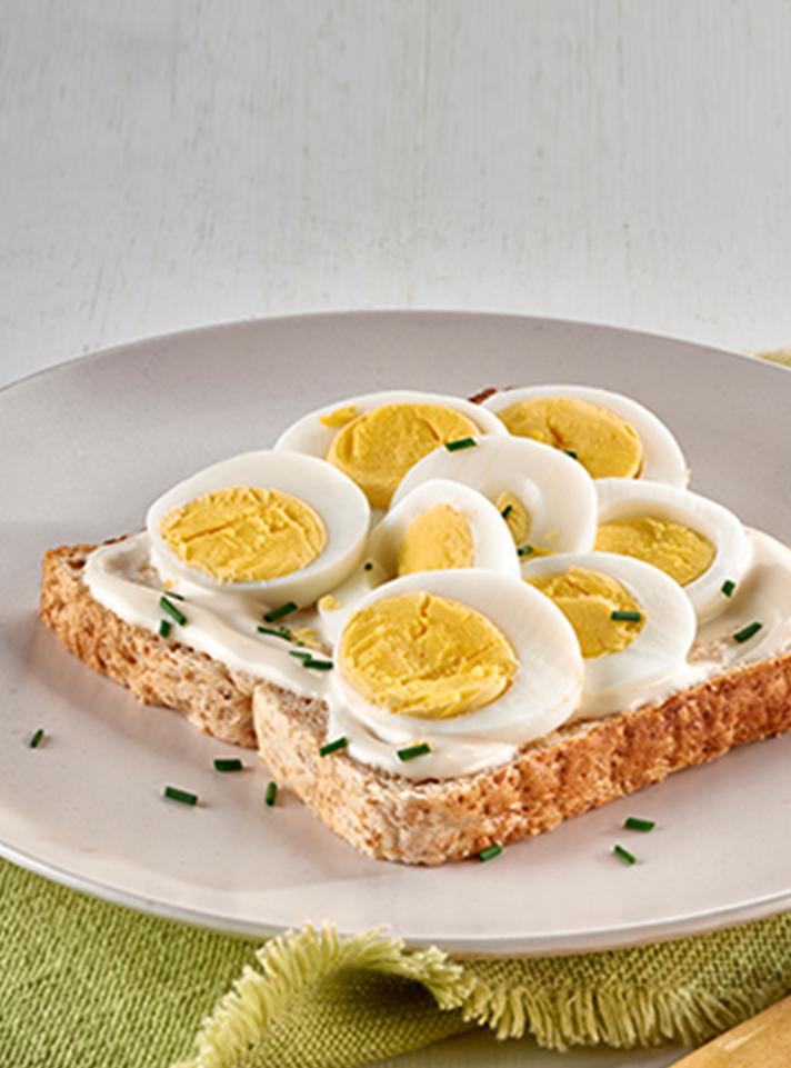 Egg Mayonnaise Open Sandwich