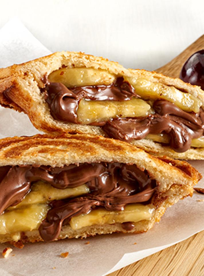 Banana, Jam and Peanut Butter Toasty